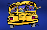 school bus hidden object